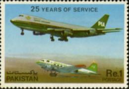 Ref. 190662 * NEW *  - PAKISTAN . 1980. 25th ANNIVERSARY OF 'PAKISTAN INTERNATIONAL AIRWAYS'. 25 ANIVERSARIO DE LA COMPA - Pakistán