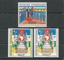 CENTRAFRIQUE  Scott 946-948 Yvert820A-820C ** (3) Cote 8,20 $ 1990 - Centrafricaine (République)