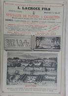 PUB 1902 - Papier Cigarettes L. Lacroix Mazères Sur Le Salat, Parfumeur Lorenzy-Palanca Marseille - Publicités