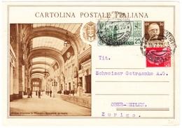 1931 30 Cent  Ganzsachenkarte An Die Schweizer Getränke AG Obermeilen - 1900-44 Vittorio Emanuele III