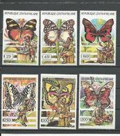 CENTRAFRIQUE  Scott 956-961 Yvert 835-840 ** (6) Cote 12,00 $ 1990 - Centrafricaine (République)