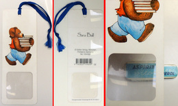 Marque-page Signet : L' OURS De SARA BALL - Avec Sa Loupe Et Son Ruban - Sellier Allemagne - Bookmarks