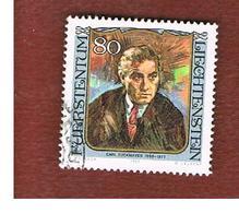 LIECHTENSTEIN -  SG 834  -  1984 FAMOUS VISITORS: C. ZUCKMAYER  - USED - Liechtenstein