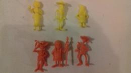 Figurine Lucky Luke Monochrome Morris 1970 (lot De 6) - Figurines