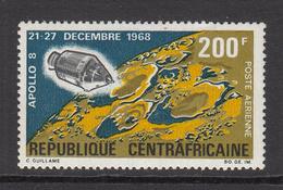 1968  Central African Republic US Apollo 8 Mission Set Of 1 - Zentralafrik. Republik