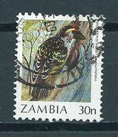 1987 Zambia 30N Bird,oiseaux,vögel Used/gebruikt/oblitere - Zambia (1965-...)