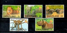 SWAZILAND, 2017,  ANIMALS, BIG FIVE,, 5v. MNH** - Timbres