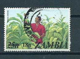 1979 Zambia Overprint Tobacco Growing Used/gebruikt/oblitere - Zambia (1965-...)