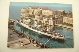 TARANTO   NAVE  CENTAURO   SHIP   MARINA  MILITARE  WARSHIP  VIAGGIATA COME DA FOTO - Warships