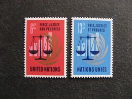 O.N.U. Siège De New-York: TB Paire N° 206 Et N° 207, Neufs XX. - New York -  VN Hauptquartier