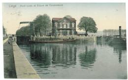 LIEGE 1910 COULEUR Pont-Levis Et Ecluse De Coronmeuse - Liege
