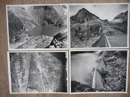 4 PHOTOS Du Chantier DU BARRAGE HYDROELECTRIQUE DU PORTILLON (dépt 31) En 1948/49 - Photographs