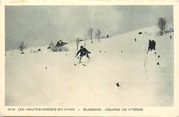 Themes Div- Ref Y827- Sports D Hiver - Ski - Skieurs - Les Hautes Vosges En Hiver -bussang -course De Vitesse  - - Wintersport