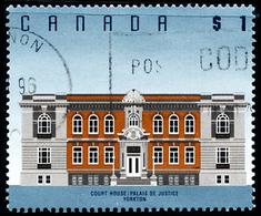Canada (Scott No.1375 - Court House, Yorkton, SK) [o] Perf. 14,6 V 14,0 - 1952-.... Règne D'Elizabeth II