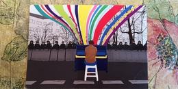 Ukraine, Maidan - Modern Postcard - Piano - Ukraine