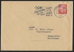 1934 - DEUTSCHES REICH - Cover + Michel 517X [Paul Von Hindenburg] + SCHWEINFURT - Lettres & Documents