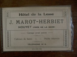 Hotel De La  Lesse     Rekening Van 1922   HOUYET - 1900 – 1949