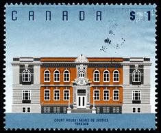 Canada (Scott No.1375b - Court House, Yorkton, SK) [o] Perf. 13,3 X 13,0 - 1952-.... Règne D'Elizabeth II