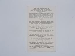 Bidprentje: Klooster-Zuster CARISSIMA, Jubilée 50 Jaar Kloosterleven 1912 - 1962,Heist-Goor, Christelijke Scholen - Faire-part