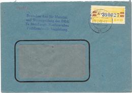 DDR ZKD Brief Wertstreifen Mi.25 Magdeburg 1960, Deutsches Amt Für Materialprüfung - [6] Democratic Republic
