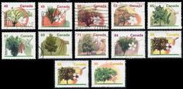 Canada (Scott No.1363-74 - Arbre Fruitier / Fruit Tree) (o) 12 Diff. - 1952-.... Règne D'Elizabeth II