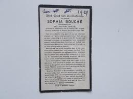 Bidprentje: Sophia BOUCHE Echtg. Alfons BRIL, Adinkerke 27/1/1872 - Veurne 31/12/1929 - Faire-part