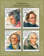 GUINEA 2018 - Mozart, Schubert, Van Beethoven, Haydn. Official Issue - Music