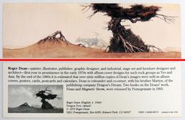 Ancien & Joli Marque-page éditions D'ART Pomegranate En Californie USA - ROGER DEAN : Dragon Tree - Bookmarks