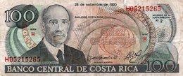 COSTA RICA 100 COLONES 1993 P-261 -picollo Diffeto - Costa Rica