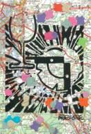 ILLUSTRATEUR : PRADIGNAC - Carte Postale Unique Réalisée Avec Des Confetis Et Encre De Chine - Signée Par L'auteur - Illustrators & Photographers