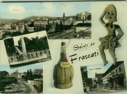 FRASCATI ( ROMA ) SALUTI - VEDUTINE - EDIZ. F.D.V.T.1 - 1965  (2617) - Altre Città