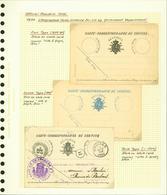 Belgique - Lot Cartes Correspondances De Service (6G23184) DC0681 - Belgique