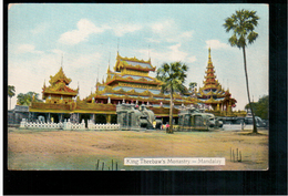 BURMA/ MYANMAR King Theebaw's Monastry Mandalay  Ca 1910 OLD POSTCARD 2 Scans - Myanmar (Burma)