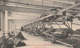 CPA 84 L'ISLE SUR SORGUE ETABLISSEMENT BRUN CHAMPEIN SALLE DE  CARDERIE - L'Isle Sur Sorgue