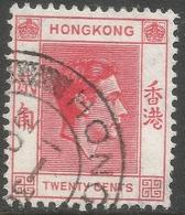 Hong Kong. 1938-52 KGVI. 20c Used. SG 148 - Hong Kong (...-1997)
