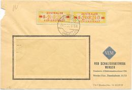 DDR ZKD Brief Wertstreifen Mef Mi.18 VEB Schaltgerätewerk Werder 1959 - [6] Democratic Republic