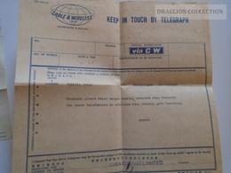 ZA132.19 HONG KONG - Telegraph Telegram  Cable And Wireless Limited -Würenlingen Switzerland -CIBA  CHINA 1964 - Storia Postale