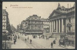 +++ CPA - BRUSSEL - BRUXELLES - La Bourse Et Le Boulevard Anspach  // - Lanen, Boulevards