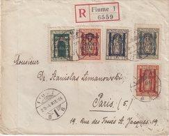 ITALIE : FIUME . AFFRT COMPOSE A 3 LIRES . LETTRE REC . 1924 . - Occupation 1ère Guerre Mondiale