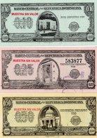 REPUBBLICA DOMINICANA 10,25,50 CENTAVOS ORO 1961 P-86,88,90 UNC -MUESTRA SIN VALOR-RARE - Repubblica Dominicana