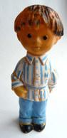 1 FIGURINE PIMPRENELLE ET NICOLAS BONNE NUIT LES PETITS POUET EN VINYL DELACOSTE Variante Petite Taille - Figurines