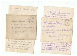 LETTRES CORRESPONDANCE MILITAIRE 1924 DE SARS - LA - BUISSIERE (BELGIQUE) - 1914-18