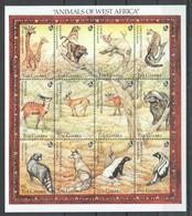 S317 GAMBIA FAUNA ANIMALS OF WEST AFRICA 1SH MNH - Postzegels