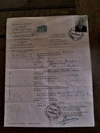 Min . Buitenlandse Zaken  DOORGANGSBEWIJS  1947  Fiscale Zegel En Vele Stempels - Décrets & Lois