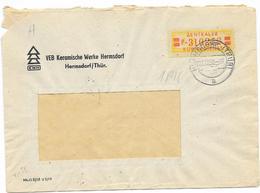 DDR ZKD Brief Wertstreifen EF Mi.19 VEB Keramische Werke Hermsdorf 1958 - [6] Democratic Republic