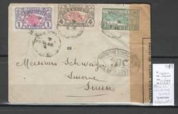 Reunion - Lettre Pour Lucerne En Suisse  - CENSUREE 1918 - Reunion Island (1852-1975)