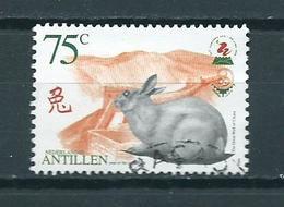 1999 Netherlands Antilles Year Of The Rabbit,China'99 Stamp Show 75 Cent Used/gebruikt/oblitere - Curaçao, Nederlandse Antillen, Aruba