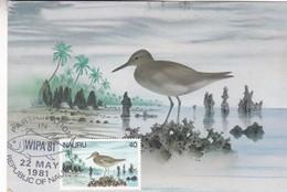 PARTICIPATION IN WIPA '81- REPUBLIC OF NAU- MAXIMUM CARD 1981-BLEUP - Nauru