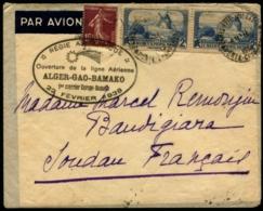 Lot N°7345 - 1er Courrier ALGER-GAO-BAMAKO 22 Février 1938 à Destination De MOPTI - Rare - TB - Air Post