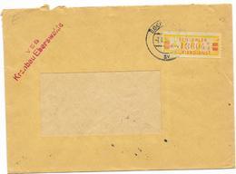 DDR ZKD Brief Wertstreifen EF Mi.19 VEB Kranbau Eberswalde 1958 - [6] Democratic Republic